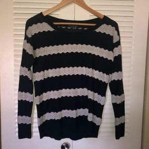 Navy and Lace Design AE Sweater